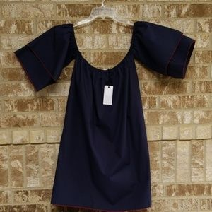 NWT Loveriche Blue Red Lined Dress Size Large